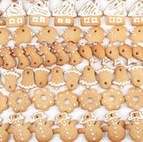 Bolinhos do pão-de-espécie do Natal imagens de stock
