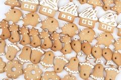 Bolinhos do pão-de-espécie do Natal imagem de stock