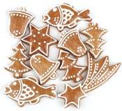 Bolinhos do pão-de-espécie do Natal fotografia de stock