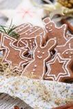 Bolinhos do pão-de-espécie do Xmas Foto de Stock