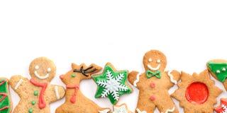 Bolinhos do pão-de-espécie do Natal Imagem de Stock Royalty Free
