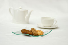 Bolinhos e chá Fotos de Stock