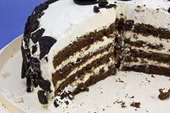Bolinhos e detalhe do bolo do creme Fotos de Stock