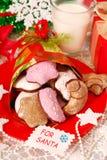 Bolinhos e leite para Santa foto de stock royalty free