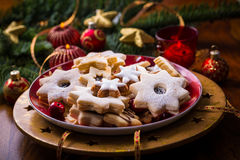 Bolinhos e pão-de-espécie do Natal Imagens de Stock Royalty Free