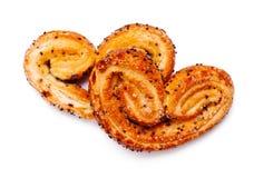 Bolinhos Heart-shaped fotografia de stock