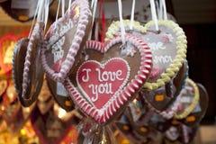 Bolinhos Heart-Shaped imagens de stock royalty free
