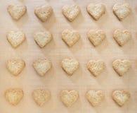 Bolinhos Heart-shaped do Natal fotos de stock royalty free