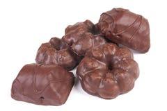 Bolinhos saborosos do chocolate doce fotografia de stock