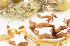 Bolinhos Star-shaped do Natal imagem de stock