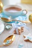 Bolinhos Star-shaped para o Natal com pistachios imagens de stock royalty free