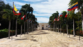 BolivarÂ的房子,圣玛尔塔 免版税库存照片