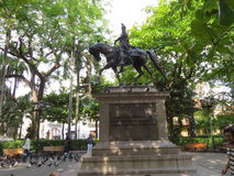 Bolivar i Cartagena Arkivbild