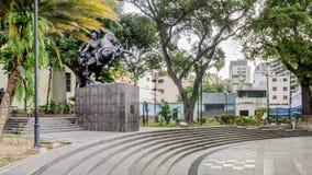 Bolivar square in Chacao, Caracas, Venezuela royalty free stock photo