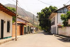 Bolivar, Valle del Cauca. Colonial town built in the 1800's . in Colombia,SA Royalty Free Stock Photo
