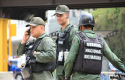 Bolivarian National Guard armed forces soldiers Royalty Free Stock Photography