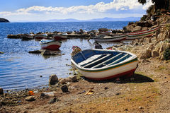 Bolivië Isla de Sol stock afbeelding