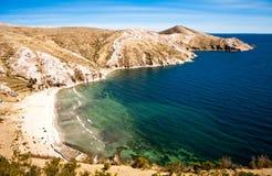 Bolivië - Isla del Sol op het Titicaca-meer Stock Fotografie