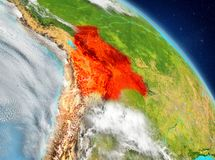Bolivië van baan vector illustratie