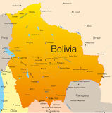 Bolivia royaltyfri illustrationer