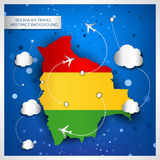 Bolivia air travel abstract background Royalty Free Stock Photos