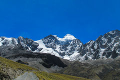 Bolivia Andes snow covered mountain Stock Images