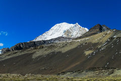 Bolivia Andes snow covered mountain Stock Image