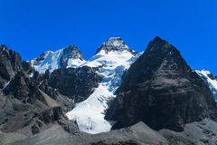 Bolivia Andes snow covered mountain Royalty Free Stock Photography