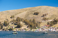 Bolivia Barge Ferry Royalty Free Stock Images