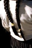 bolivia braids flicka s Arkivbilder