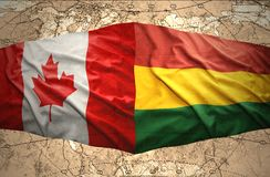 Bolivia and Canada Royalty Free Stock Photo