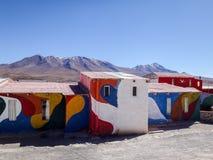 Bolivia coloreó casas Imagen de archivo