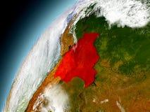 Bolivia de la órbita de Earth modelo Fotografía de archivo