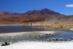 Bolivia desert and mountain Stock Images