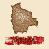 Bolivia distressed map. Royalty Free Stock Photography