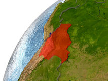 Bolivia on Earth Stock Image