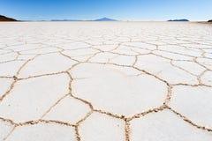Bolivia för Salar De Uyuni salt jordökensikt landskap Royaltyfri Bild