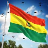 bolivia flagę Obrazy Royalty Free