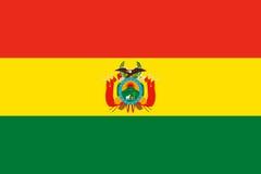 bolivia flagę Zdjęcie Royalty Free