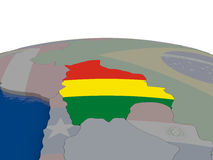 Bolivia with flag Stock Image