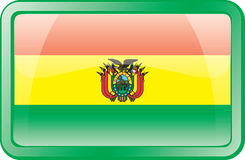 Bolivia Flag Icon Stock Photos