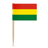 Bolivia flag toothpick on white background Royalty Free Stock Image
