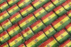 Bolivia Flag Urban Grunge Pattern Royalty Free Stock Photography