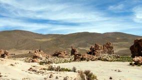 Bolivia: formaciones de roca rojas de la Italia Perdida, o Italia perdida, en la reserva de Eduardo Avaroa Andean Fauna National imagenes de archivo