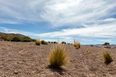 Bolivia: formaciones de roca rojas de la Italia Perdida, o Italia perdida, en la reserva de Eduardo Avaroa Andean Fauna National foto de archivo