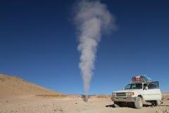 bolivia fumarolas wulkan fotografia stock