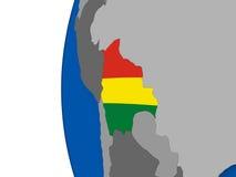 Bolivia on globe Stock Photos