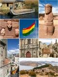 Bolivia gränsmärkecollage royaltyfria bilder