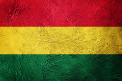 bolivia grunge flagę Boliwijki flaga z grunge teksturą Fotografia Royalty Free