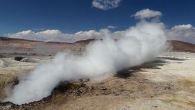 Bolivia Hot Springs 5.mp4. Scene from Boliva South America Slow Motion of the hot springs